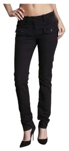 Robert Rodriguez Low Rise Chic Trendy Slash Pockets Classic Designer Luxury Dressy Casual Skinny Jeans-Dark Rinse