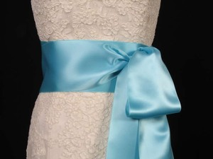 Tiffany Blue Ribbon Sash 4