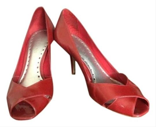 BCBGeneration Patent Leather Brite Red Pumps