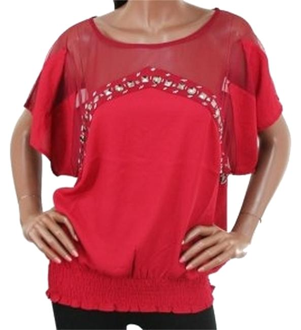 Preload https://item2.tradesy.com/images/red-dolman-sleeve-sheer-neckline-jeweled-blouse-size-6-s-3529801-0-0.jpg?width=400&height=650