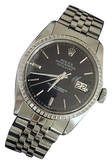 Preload https://item3.tradesy.com/images/mens-rolex-datejust-stainless-steel-date-watch-with-black-dial-vintage-3530887-0-1.jpg?width=440&height=440