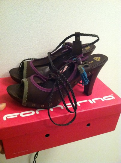Fornarina Coffee Sandals