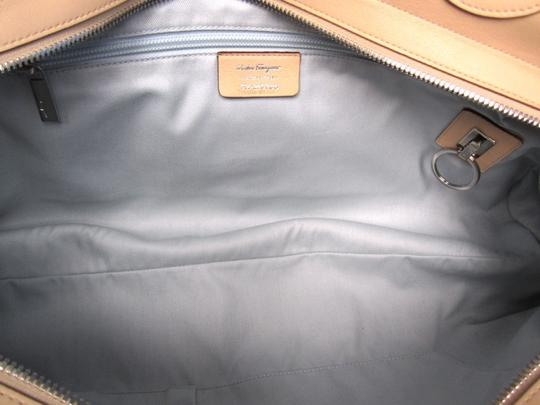 Salvatore Ferragamo Leather Satchel in Tan