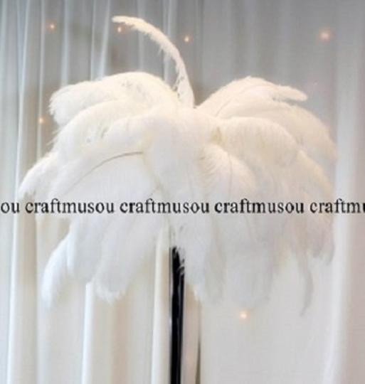 White Ostrich Feather 10-12 Inches 50 Pieces Reception Decoration