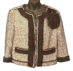 Ann Taylor Black and white tweed Jacket