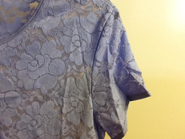 Things Contempo Lace Comfortable Professional Floral Stretchy Top Lavender
