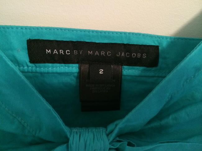 Marc by Marc Jacobs Bow Pleated Top Teal