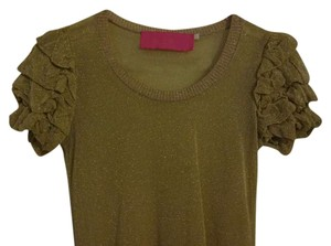 Sarah Coventry Tunic Sheer Tunic Tunic Top Gold