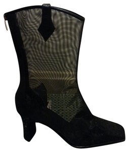 J. RENE'E Leather Black/ Balck Boots