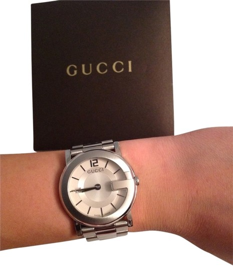 Preload https://item2.tradesy.com/images/gucci-stainless-steel-watch-3532696-0-0.jpg?width=440&height=440