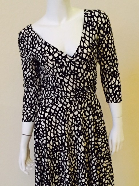 Maggy London short dress Black And White Wrap Work Attire on Tradesy