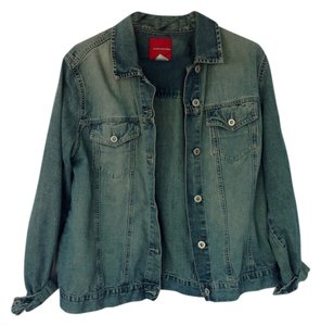 Gloria Vanderbilt Jean Denim Worn In Retro Womens Jean Jacket