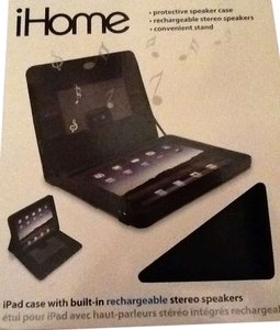 iHome Ipad case with built in rechargeable speakers