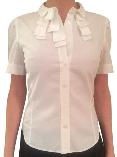 Preload https://item3.tradesy.com/images/louis-vuitton-white-short-sleeve-blouse-size-2-xs-3534172-0-0.jpg?width=400&height=650