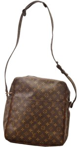 Louis Vuitton Vintage Cross Body Monogram Lv Brown Messenger Bag