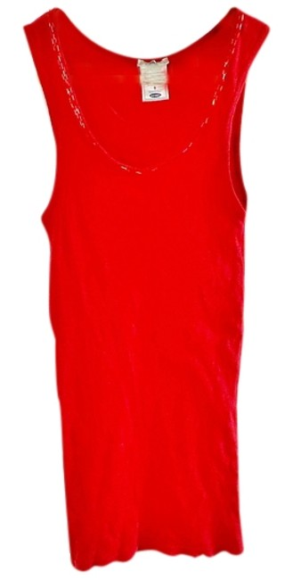Old Navy Sequin Embroidered Top red