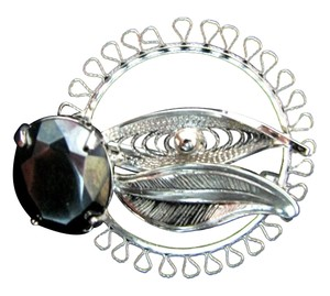 Sorrento Sorrento Filigree Hematite Sterling Silver Brooch