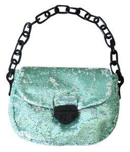 Leshop Sequined Sequin Sequined Handbag Mint Sparkly Sparkle Chain Strap Shoulder Bag