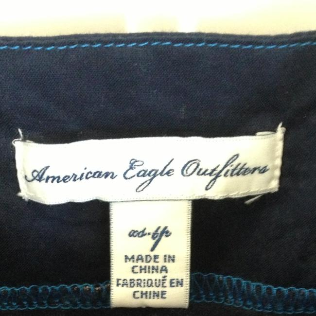 American Eagle Outfitters short dress Blue, White, Purple Summer Pockets Bow Print Cotton on Tradesy