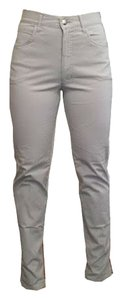 Fendi Vintage Gray High Waisted Straight Leg Jeans-Light Wash