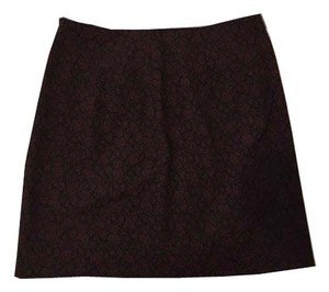 Theory Mini Skirt Burgundy/Black