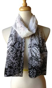 Brand New Gorgeous black multi floral print light weight scarf