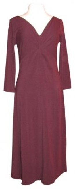 Preload https://img-static.tradesy.com/item/35357/maroon-knit-v-neck-34-slee-long-casual-maxi-dress-size-8-m-0-0-650-650.jpg