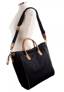 Tory Burch Cross Body Tote in Black and brown