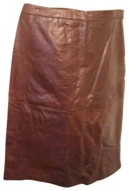Preload https://item2.tradesy.com/images/gap-brown-cognac-leather-knee-length-skirt-size-12-l-32-33-35361-0-0.jpg?width=400&height=650