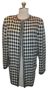 Ungaro Parallele Vintage Houndsooth Dress Designer Jacket
