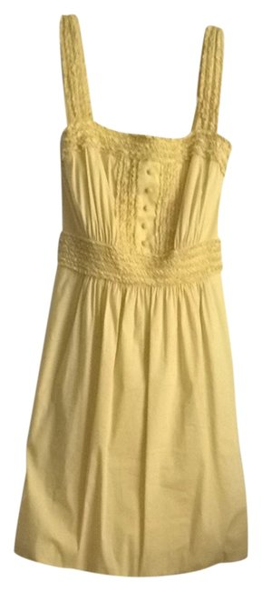BCBGMAXAZRIA short dress Yellow on Tradesy