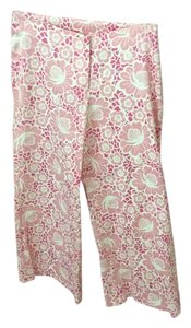 Lilly Pulitzer Wide Leg Pants Pink and white