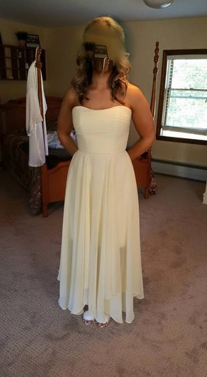 Allure Bridals Banana Chiffon 1369 Feminine Bridesmaid/Mob Dress Size 6 (S)