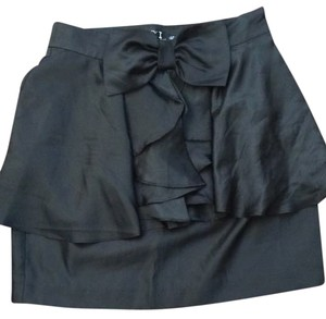 Forever 21 Bow Glam Skirt Black ELEGANT
