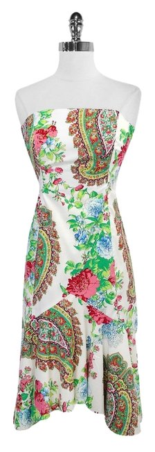 Shoshanna short dress Floral Print Cotton Strapless on Tradesy