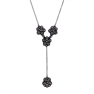 Mariell Popular Black Diamond Filigree Flower