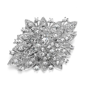 Mariell Silver Best Selling Vintage Floral 471p Brooch/Pin