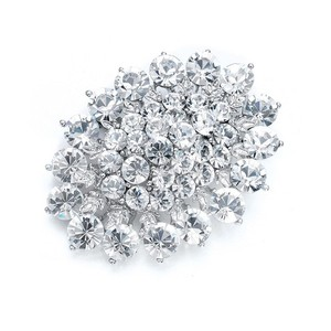 Mariell Brilliant Crystal Cluster Bridal Pin 857p