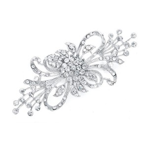Mariell Dramatic Crystal Spray Bridal Brooch 474p-s