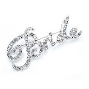 "Mariell Silver Crystal ""Bride"" 3163p Brooch/Pin"