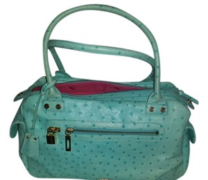 Elaine Turner Elaine Ostrich Tote in TURQUOISE