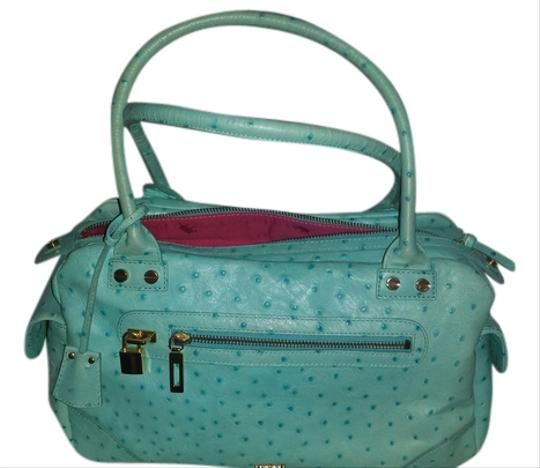Preload https://img-static.tradesy.com/item/3538414/elaine-turner-ostrich-turquoise-leather-tote-0-0-540-540.jpg