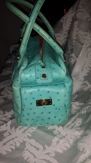 Elaine Turner Ostrich Tote in TURQUOISE