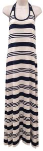 Striped Blue Heather/Cream Maxi Dress by Ralph Lauren Blue Label
