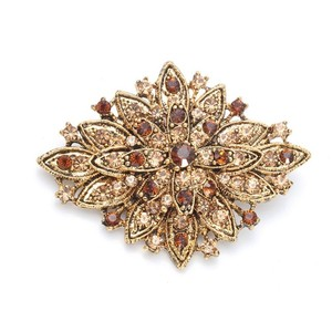 Mariell Best Selling Vintage Floral Bridal Brooch 471p-lc-g