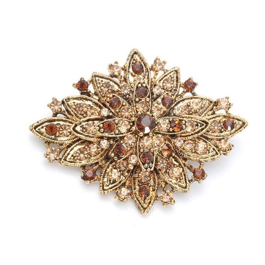 Mariell Golden Best Selling Vintage Floral 471p-lc-g Brooch/Pin