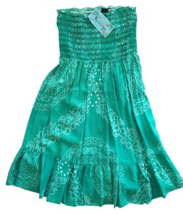 Raviya short dress Green Sundress Strapless on Tradesy