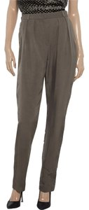 Joseph Satin-twill High-rise Trouser Pants gray