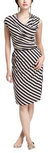 Bordeaux Los Angeles short dress Deep gray/Navy/Khaki Anthropologie Jersey Striped on Tradesy