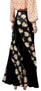 Free People Twisted Velvet Bohemian Peasant Sz 4 Maxi Skirt